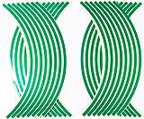 HIROMARUjp 反射 リムステッカー 17 18 インチ 8mm バイク2台分 4車輪分 グリーン ¥ 1,190