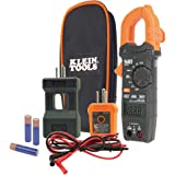 Klein Tools CL120KIT Electrical Tester/Auto-Ranging Digital Clamp Meter Kit, GFCI Tester, Line Splitter, Pouch, Leads, 3 x AA