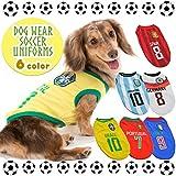 【StoneUp】 ドッグウェア サッカー ユニフォーム 犬 服 (XL, アルゼンチン)