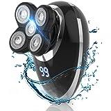 メンズ 電動シェーバー ひげそり 電気 髭剃り 回転式 電動カミソリ 水洗い 乾湿両用 IPX7防水 お風呂剃り可 USB充電式 LCDディスプレイ 5枚刃 多機能 持ち運び便利