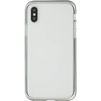 2472c607ff motomo iPhone XS/X ケース INFINITY CLEAR CASE シルバー(モトモ インフィニティ クリアケース)