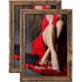 Artsay Rustic Distressed Poster Picture Frames Document Frame Pack, Composite Wood, 11x17