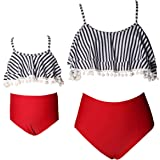 PURFEEL Mother and Daughter Swimwear Family Matching Swimsuit Girls Swimwear