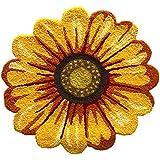 MeMoreCool Handmade Needlepoint Sunflower Acrylic Area Rugs Bedroom/Living Room/Bathroom/Kitchen Home Decoration Carpet Washa