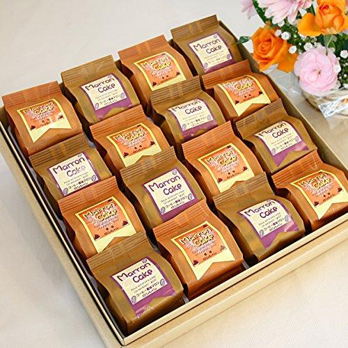 マロン ケーキ(プレーンとコーヒー味の詰め合わせ) (ギフト用・16個入り)