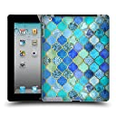 オフィシャル Micklyn Le Feuvre アクア&ゴールド モロッカン ハードバックケース iPad 2 (2011)