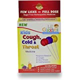 Lil Giggles Giggles Kid's Cough, Cold & Throat Medicated Lollipops Variety Pack For Children's Persistent Cough, Cold And Sor