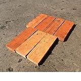 清家石材 アンティークレンガ ハーフ型 レッドブラウン 20個セット