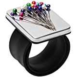 Coitak Magnetic Pin Holder Wrist Band, Magnetic Wrist Sewing Pincushion with Wristband for Sewing, 1 Replacement Wristband