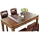 テーブルクロス PVC製 テーブルマット デスクマット テーブル クロス 長方形 防水 撥水 耐久 汚れつきにくい 透明1mm/1.5mm/2mm (厚さ2mm, 80*135cm)