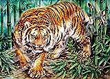 ジグソーパズル 猛虎竹林図 500ピース (38x53cm)