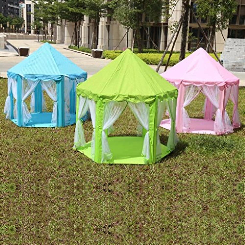 プリンセスCastle Play Tent子供キッズプレイテントポータブルテントゲームHouse for Kids Baby Funny Playing makaor 140cmx135cm グリーン