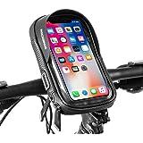 ROCKBROS(ロックブロス)スマホホルダー 自転車 バイク 防水 携帯ホルダー 360度回転 トップチューブバッグ 落下防止 遮光 6.5インチ対応 自転車バッグ