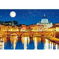 1000ピース ジグソーパズル 世界遺産 星空のサン・ピエトロ大聖堂 世界極小マイクロピース(26x38cm)