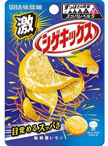 味覚糖   激シゲキックス 極刺激レモン  20G×10袋