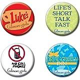 """Ata-Boy Gilmore Girls Set of 4 1.25"""" Collectible Buttons"""