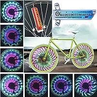 zzpopGG 自転車 タイヤライトストリップ 自転車ライト カラフル 32-LED 自転車ライト 32パターン サイクリング 自転車 装飾タイヤスポークランプ