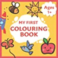 My First Colouring Book: Toddlers First Colouring book With 40 Simple Adorable Pictures to Colour And Learn | Ages 1+