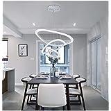 Rings Pendant Lights LED Chandelier Simple Oval Ring Acrylic Pendant Lamp Dining Table Chandelier Restaurant Living Room Adju