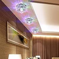 Cheerhuzz新しいモダンクリスタル5WカラフルなLED天井ライトランプリビングルームホールPorch照明cl148–5Co