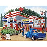 Bits and Pieces - 500 Piece Jigsaw Puzzle for Adults - Frank's Friendly Service - 500 pc Americana Summer Jigsaw by Artist Kay Lamb Shannon [Floral] [並行輸入品]