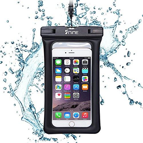 PZX 完全防水ケース スマホ用防水ケース ポーチ 指紋認証 スムーズ操作 防水等級IPX8 お風呂 温泉 ダイビング 5.5インチまでのiPhoneとAndroidスマホに対応 ブラック (ブラック)