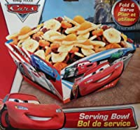 Disney & Pixar CARS LIGHTNING McQUEEN Party Fold & Serve SERVING BOWL (10 Inch) by Disney