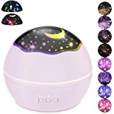 Moon Star/Colorful Undersea World Night Light Projector for Kids,HOMREE 8 Colors Rotating Baby Lights Nursery Lamp USB Batter