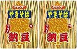 【 ペヤング 】 ソース やきそば プラス 【 納豆 】 126 g × 2 個