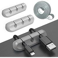 ケーブルホルダー コード まとめる ケーブルクリップ コードクリップ 机ケーブル整理 収納コードクリップ 万能 Cabl…