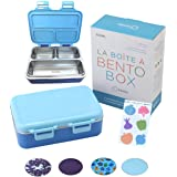 Stainless Steel Bento Lunch Box for Kids Toddlers Boys, 3 Insulated Eco Metal Portion Sections Leakproof Lid, Pre-School Dayc