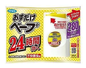 おすだけベープ ワンプッシュ式 虫除け セット 280回分 無香料