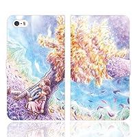iPhoneSE iPhone5S iPhone5 手帳型 ケース カバー はるか時のかなたで 管理者 幻想的 風景 アート イラスト デザイナー ファンタジー