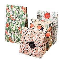 【12枚セット】ギフトバッグ 紙袋 紙バッグ 柄小袋 セット プレゼント お祝い キャンディ 工芸品 小物収納 丈夫 綺麗 花柄 4種 13cm*8cm*23cm