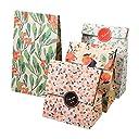 【12枚セット】ギフトバッグ 紙袋 紙バッグ 柄小袋 セット プレゼント お祝い キャンディ 工芸品 小物収納 丈夫 綺麗 花柄 4種 13cm 8cm 23cm