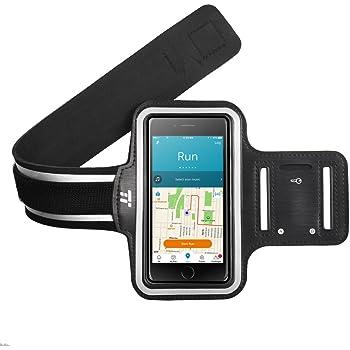 スポーツ アームバンド TaoTronics アームバンドケース 鍵入り カード収納 超薄型軽量 防水 防汗 調節可能 反射帯付 iPhone 6S / 6 plus Galaxy / Xperia 対応 5.5インチ TT-HT003