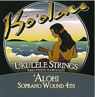 【KO'OLAU STRINGS】 ALOHI SOPRANO WOUND 4TH ソプラノ用 ウクレレ弦 セット(高密度モノフィラメント繊維 4弦のみ巻弦 Low-G)