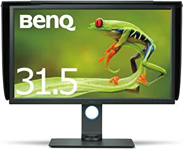 BenQ カラーマネージメントモニター ディスプレイ SW320 32インチ/4K UHD/IPS/DisplayPort,miniDisplayPort,HDMI搭載/遮光フード付/AdobeRGB/写真編集用
