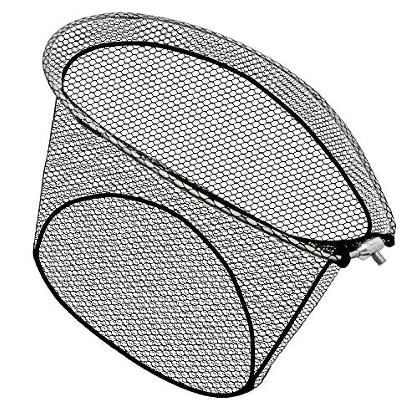 ペレグリネーション不利益グラフィックJINKING 玉網 タモ網 アルミオーバルフレーム 折りたたみ玉枠 ラバーネット ナイロンネット ランディングネット 枠サイズ(55×45cm)