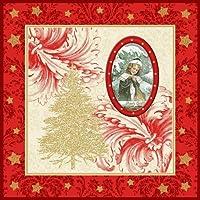 '20ナプキン、3-capas pliegue-1/4 33 cm x 33 cm Red Winter Vintage」