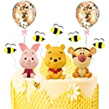MEMOVAN Winnie The Pooh Cake Topper, Pooh Bear Cake Topper Cupcake Topper, Winnie Characters Toys Mini Figurines Collection P