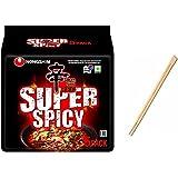 Nongshim NS SHIN RAMEN RED SUPER SPICY 120G x 5, Spicy&Hot, 600 g