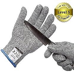Ministore 防刃 グローブ 防刃手袋 作業用手袋 作業グローブ カットガード 切れない手袋 耐切創レベル5 サイズ M