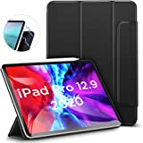 ESR iPad Pro 12.9 ケース 2020 磁気吸着 [Apple Pencilのペアリング & 充電に対応] オートスリープ/ウェイク スリム 軽量 シルク手触り 高級感 三つ折りスタンド リバウンドマグネティックスマートケース(ブラック)