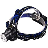 Timetech Super 90000LM Zoomable LED Headlamp Rechargeable Headlight T6 Head Torch OZ