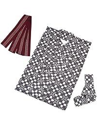 [キョウエツ] 浴衣セット 旅館浴衣 3点セット(旅館浴衣、帯、共紐)