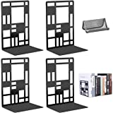 Book Ends, Metal Bookends for Shelves Decorative Heavy Duty Book Stopper Non Skid Modern bookends for kids Sturdy Bookend Sup