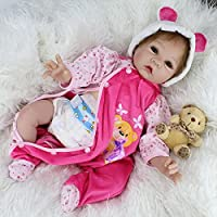 NPK Reborn Baby Doll Soft Silicone 22inch 55cm Magnetic Mouth Lovely Lifelike Cute Girl Toy Hot