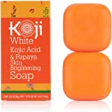 Kojic Acid & Papaya Skin Lightening Soap with Hyaluronic Acid - For Dark Spot, Hyperpigmentation, Discoloration, Acne Scars,