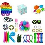 Fidget Toy Pack, 28Pcs Fidget Toys Cheap Fidget Toys Set Sensory Fidget Toys for Kids Adults, Simple Dimple Fidget Toys, Stre